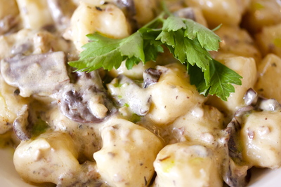 Close up gnocchi