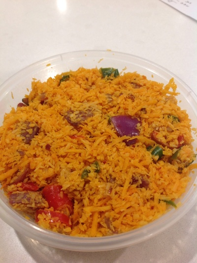 Colourful sambal chutney is lovely served with spring hoppers, dosai or iddly