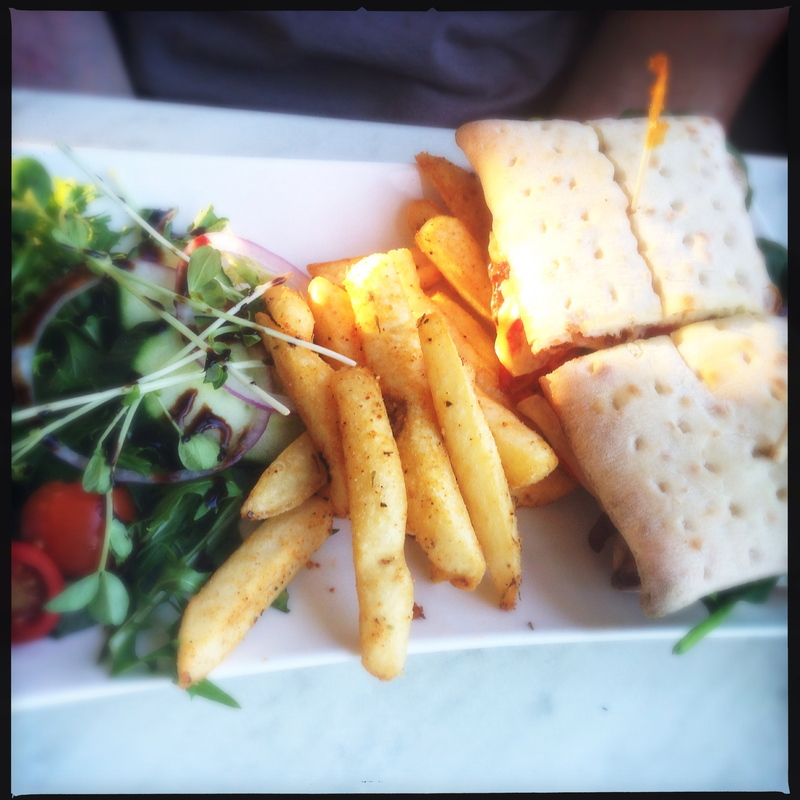 Cheesy goodness of the Philly   - The Coffee Club Nepean River, Penrith