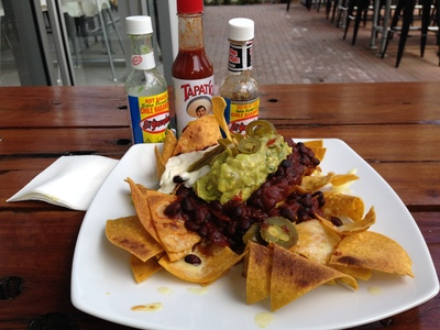 Huge vegetarian nachos for just $10