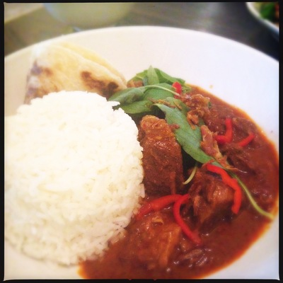 Red beff curry