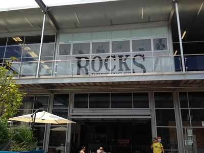 The entrance to The Rocks