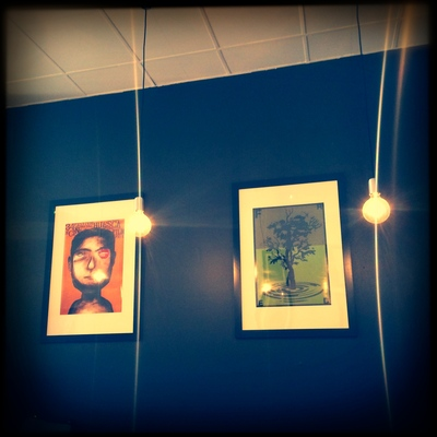 Artwork inside Cafe Fred