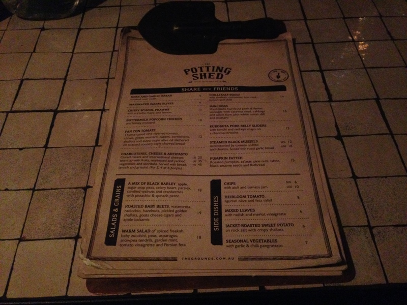 Clipboard menu - The Potting Shed at The Grounds, Alexandria - Image 3