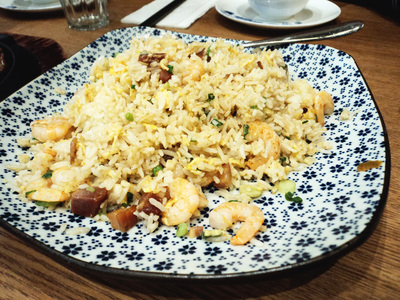 Fried Rice Yang Zhou style with BBQ Pork