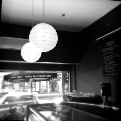 Funky interior, cafe fred