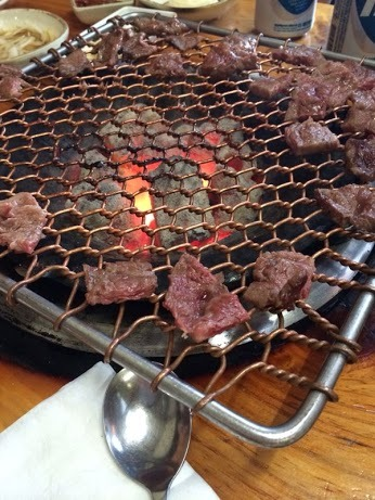 Beef thin skirt marinated in soy based sauce