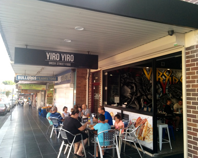 New Greek street food shop Yiro Yiro from the outside