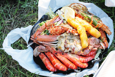 Peter's Fish Market Lobster Platter