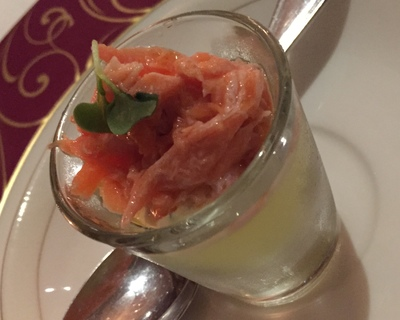 Smoked ocean trout and cucumber jelly