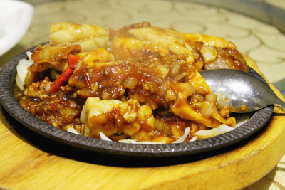 szechuan combination, sizzling plate, seafood