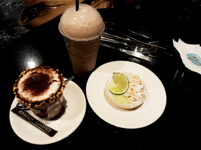 Via Del Corso cakes and drinks