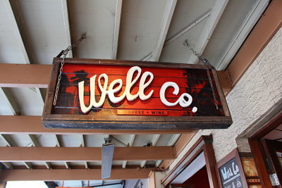 Well Co. Cafe sign